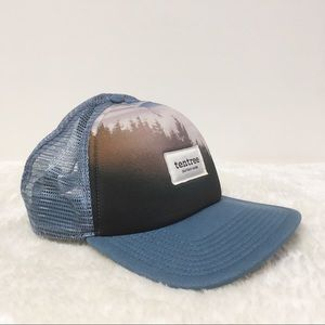 Tentree Cap Forest Cap Hat Baseball Blue One Size